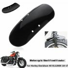 Motorcycle Metal Short Front Fender Mudguard  For 2010-2017  Sportster 48 XL1200X 1200 Bright black