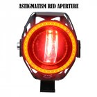 Motorcycle Modified Waterproof High Bright Colored LED Exterior Angel Devil Eye Spotlight Red upgrade