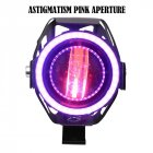 Motorcycle Modified Waterproof High Bright Colored LED Exterior Angel Devil Eye Spotlight Pink upgrade
