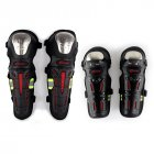 Motorcycle Motocross Knee Shin Elbow Guards Pads Racing Safety Protective Gear black + red