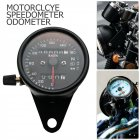 Motorcycle Odometer Speedometer Tachometer Speedo Meter LED For Honda Cafe Racer black