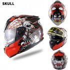 Motorcycle Racing Helmet Men and Women Motorcycle Helmet Double Lenses Compatiable with Glasses Safe ECE Standard Helmet Motorcycle Accessaries Demon_XL