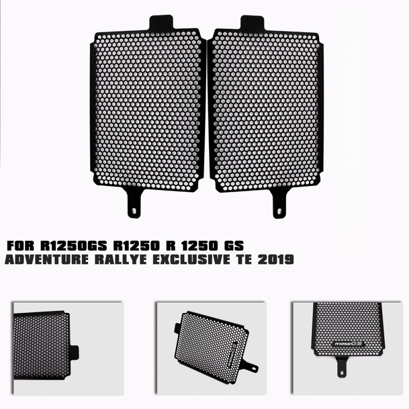 Motorcycle Radiator shield CNC Radiator Guard Protection Grille Grill Cover For BMW R1250GS 2019  black