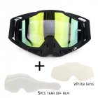 Motorcycle Riding Cross country Goggles Outdoor Glasses Set with Transparent Lens and Tearable Film