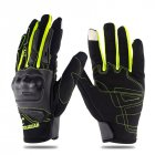 Motorcycle Riding Gloves Anti-slip  Anti-fall Racing Knight Gloves  Touchscreen Safe Gloves green_M