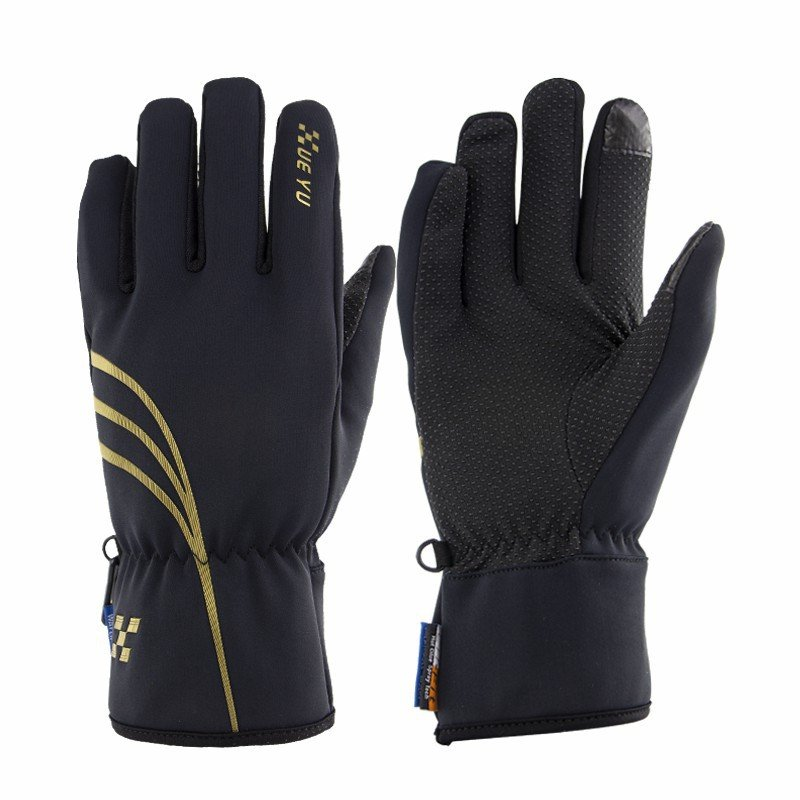 Motorcycle Riding Waterproof Gloves Outdoor Sports Biking Anti-skid Keep Warm Touch Screen Cycling Gloves black_M