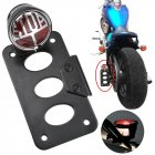 Motorcycle Side Mount Tail Light License Plate Bracket for  Chopper Bobber large stop