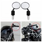 Motorcycle earview Mirror for Kawasaki Yamaha Honda Suzuki Motorcycle Chopper black