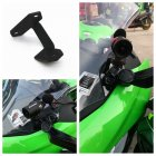 Motorcycles Left DVR Bracket Mount Support Kit for KAWASAKI NINJA400 18-19 black