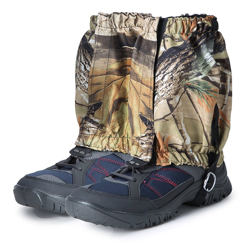 Mounchain Camping Hiking Leg Protector Camouflage Shoes Sleeves Protection Against Insect Bites Leg Guard short dead leaf camouflage