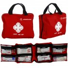 Mounchain First Aid Kit Lightweight Portable Multi Function Pocket Emergency Kit for Indoor and Outdoor Accidents Red First Aid Kit Zipper Pocket