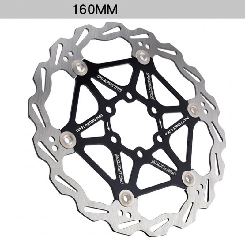Mountain Bike Brake Rotor Strong Heat Dissipation Floating Rotor 160mm 180mm 203mm Mtb Disc Brake Pad 160mm black_One size