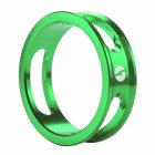 Mountain Bike Front Fork Washer Road Bike Headset Washer Aluminum Alloy CNC Hollow Highten Ring green