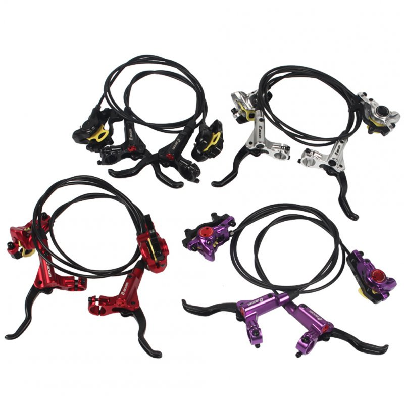 Mountain Bike Hydraulic Brake Bicycle Brake Aluminum Alloy Bikes Accessories  Red single - left rear