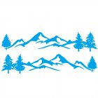 Mountain Tree Forest Graphic Vinyl Art Sticker for RV Decoration Forest Silhouette Decals Camper Vehicle Window Door Decoration blue