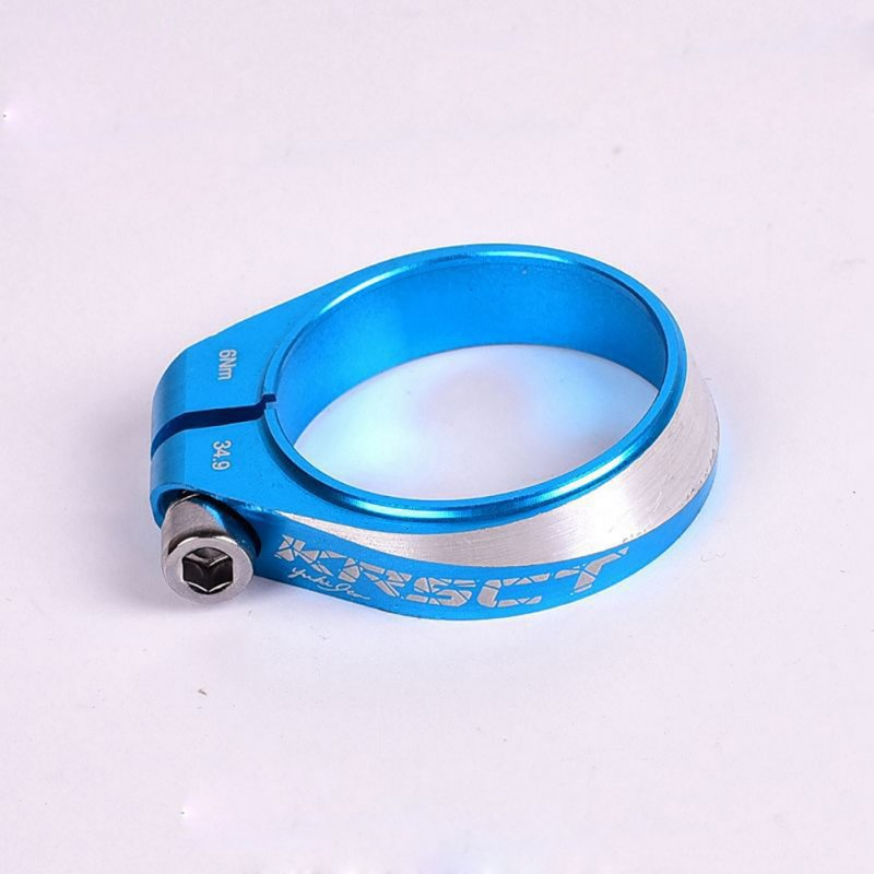 Mountain bike road seat clamp CNC6061 aluminum 34.9MM Seat Post clamp  blue