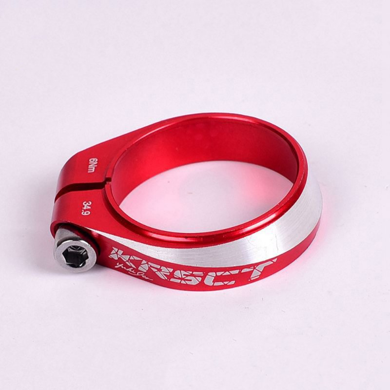 Mountain bike road seat clamp CNC6061 aluminum 34.9MM Seat Post clamp  red