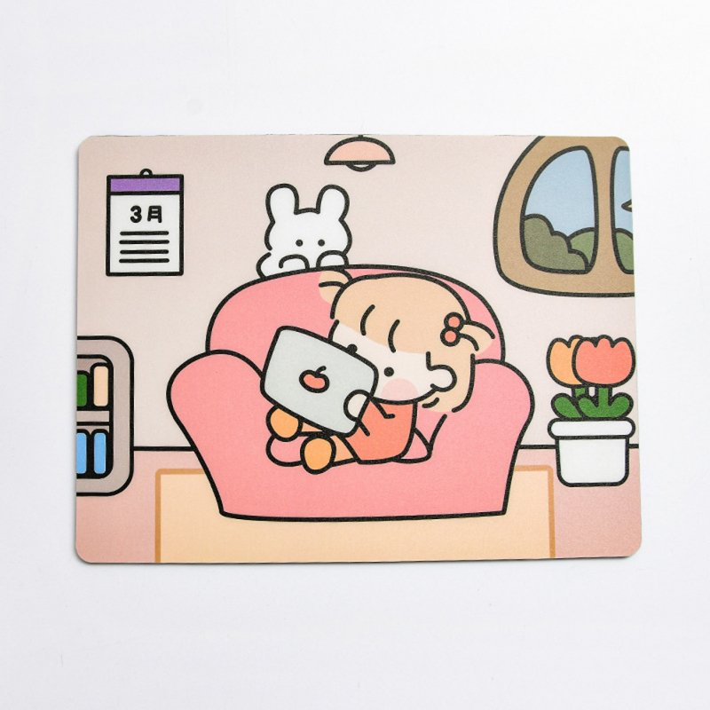 Mouse Pad Cartoon Rubber Mat Mousepad for Laptop Computer Office Desk Pad