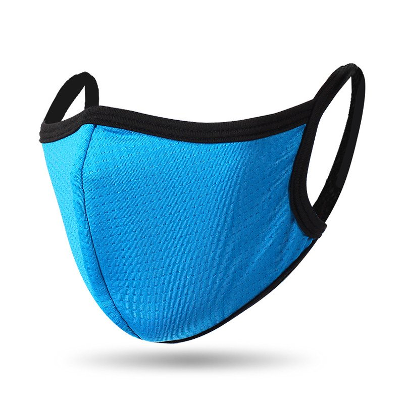 Mouth Masks Quick-drying Breathable Dust-proof Outdoor Masks For Men Women Spring Summer Face Shield Cover Blue_One size