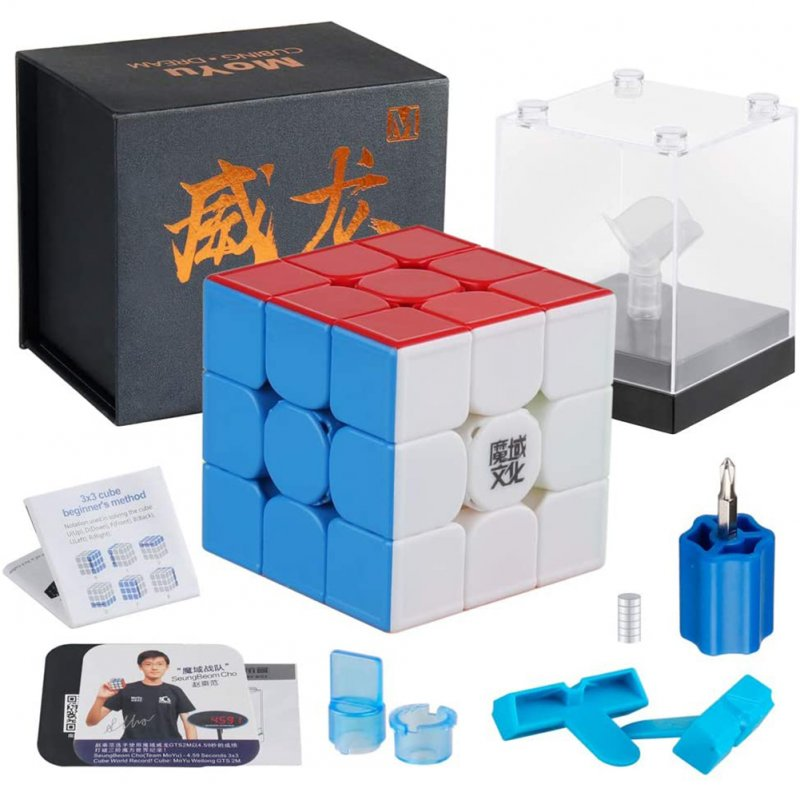 Moyu Weilong GTS3 M 3x3 Speed Cube Stickerless Magnetic Moyu Weilong GTS 3M 3x3x3 Cube Puzzle GTS V3 Light magnetic version