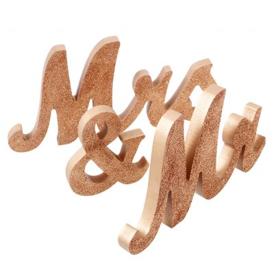 Mr & Mrs Wooden Decoration Props for Wedding