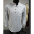 MrWonder Men s Casual Slim Fit Henley Neck Long Sleeve Linen Shirt White XL