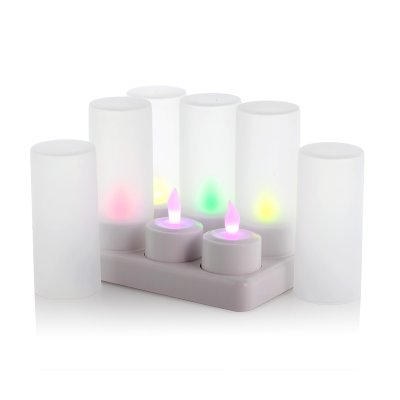 x6 Multi-Color LED Candles - Cozy Color
