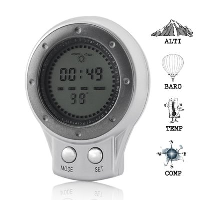 Multi Function 6-in-1 Digital Compass, Weather, Altimeter, More