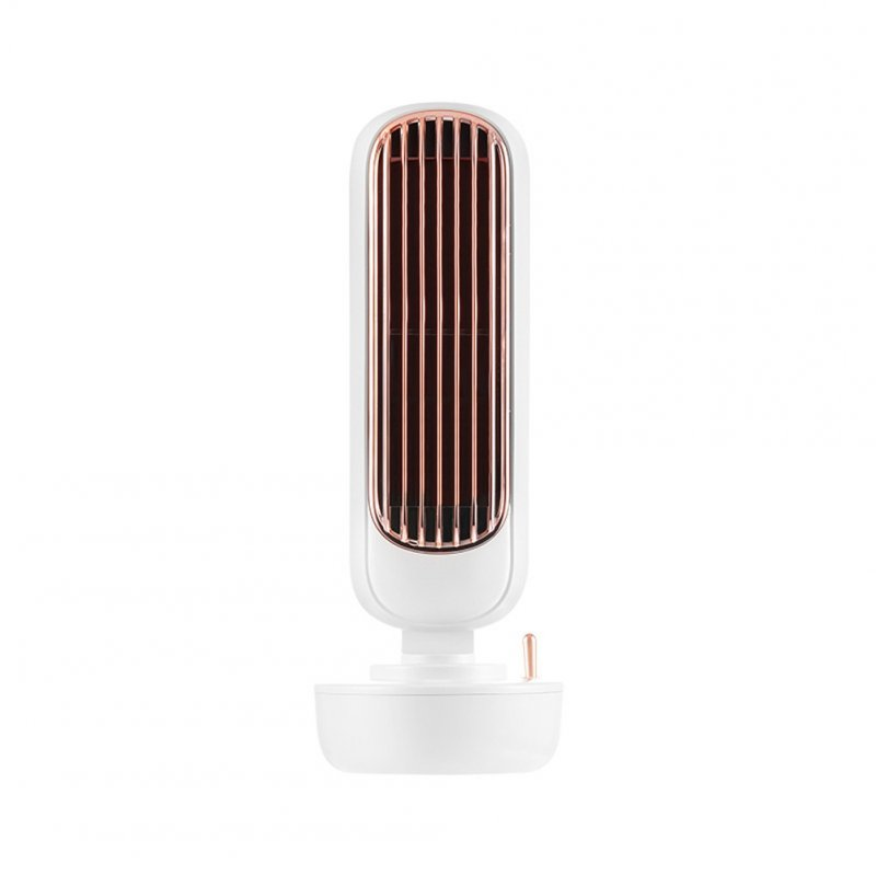 Multi-Function USB Integrated Humidification Two-In-One Tower Spray Desktop Fan  white_109 * 109 * 293mm