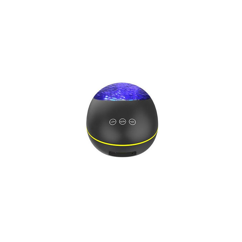 Multi Functional Bluetooth Ocean Starry Projection Remote Control Night Light Lamp black