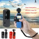 Multi Functional Silicone Cover Heat Dissipation Case Strap Combo for DJI Osmo Pocket 3-axis Stabilized Mini Camera black