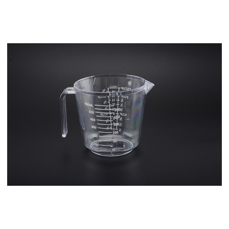 Multi Scales Measuring Cup Beaker with Handle for Baking Cooking 600ML (large size)