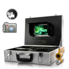 Multi Use Underwater Camera Set together with a 7 Inch LCD screen and a classic metallic Case