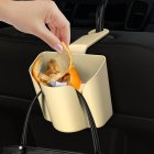 Multi-function Car Seat Hook Dustbin Car Storage Box