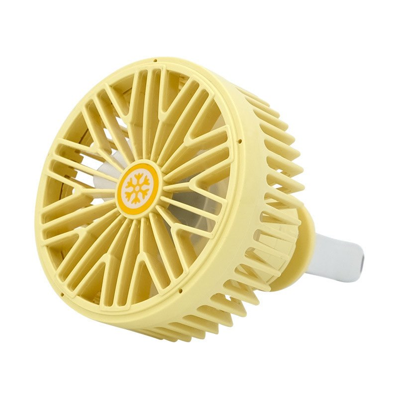 Multi-function Electric Fan Air Outlet Powerful Cooling Car  7691 yellow