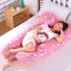 Multi-functional Pillow for Pregnant Women Side Pillow Cotton U-shaped Nap Pillow Cushion Mochi_70*130