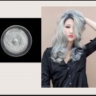Multicolor Disposable Hair Color Wax Dye One-time Molding Paste Hair Dye Wax Mud Cream gray