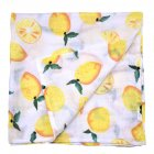 Multifunctinal Infant Double Layer Muslin Swaddle Bath Towel lemon 120 120cm