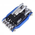 Multifunction Bicycle Repairing Set Carbon Steel Bike Repair Kit Wrench Screwdriver Chain blue