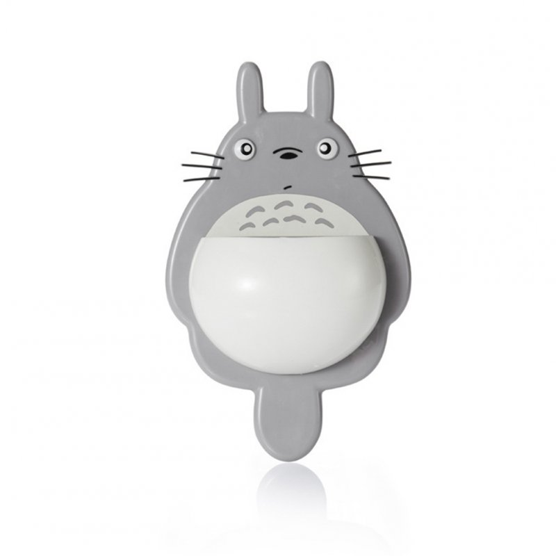 Multifunction Cute Cartoon Toothbrush Holder with Suction Cup for Bathroom Bathroom Gadget light grey_15.1 * 5.4 * 24.4cm