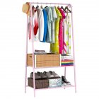 Multifunction Display Stand Metal Coat Hanger Drying Rack for Home Clothing Hat Storage Pink