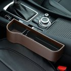 Multifunction Leather Storage Box for Car Seat Side Gap Leather brown Main driver