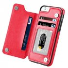 Multifunction Magnetic Leather Wallet Case Card Slot Shockproof Full Protection Cover for iPhone X 7 8 7 8 Plus red
