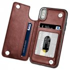 Multifunction Magnetic Leather Wallet Case Card Slot Shockproof Full Protection Cover for iPhone X 7 8 7 8 Plus brown PXBC