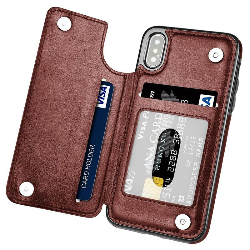 Multifunction Magnetic Leather Wallet Case