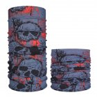 Multifunction Seamless Skull Pattern Magic Riding Mask Warm Scarf  Halloween Props 40  25 50CM or so