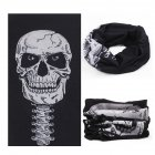Multifunction Seamless Skull Pattern Magic Riding Mask Warm Scarf  Halloween Props 109#_25*50CM or so