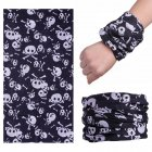 Multifunction Seamless Skull Pattern Magic Riding Mask Warm Scarf  Halloween Props 112#_25*50CM or so