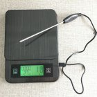Multifunction Stainless Steel Kitchen Coffee Electronic Scale for Weighting Timing Thermometer 2kg/0.1g Photo Color