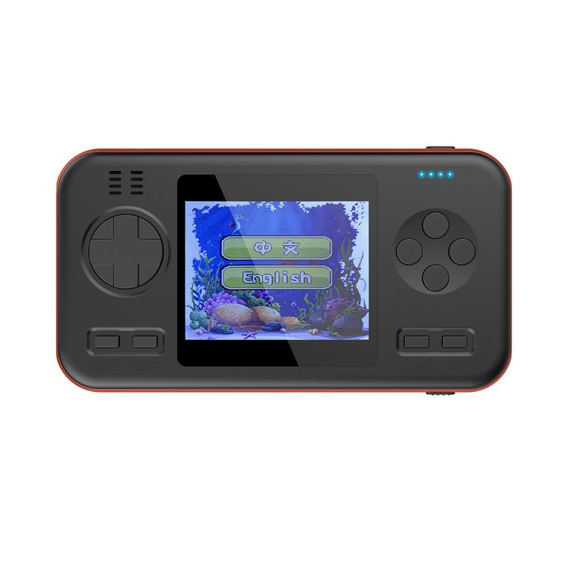 Multifunctional 2.8 Inch Color Screen Handheld Game Player Game Console Retro Classic Power Bank Black orange